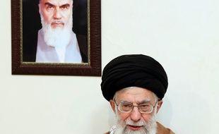 L'ayatollah Ali Khamenei le 2 janvier 2018 lors d'une allocution télévisée.