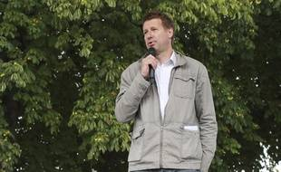 Yannick Jadot lors d'un meeting de Benoît Hamon, à Reuilly le 1er juillet 2017.
