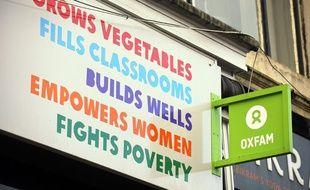 Panneau d'Oxfam, illustration.