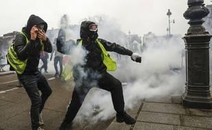 Des «gilets jaunes» à Paris, le 22 décembre 2018. (Illustration)