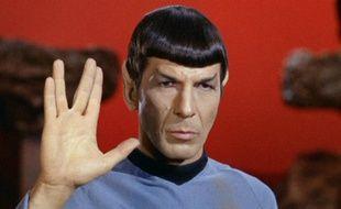 L'acteur Leonard Nimoy, dans le rôle de Mr Spock, dans la série «Star Trek».