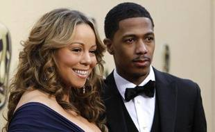 La chanteuse Mariah Carey et son mari, Nick Cannon, arrivent à la 82e cérémonie des Oscars, à Hollywood, le 7 mars 2010.