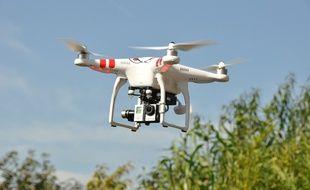 Un drone. Illustration.