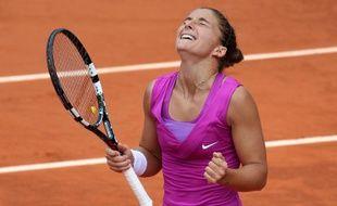 La joueuse italienne Sara Errani lors de sa demi-finale à Roland-Garros contre Samantha Stosur, le 7 juin 2012.