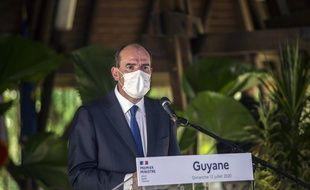 Le Premier ministre Jean Castex à Cayenne lors de son déplacement en Guyane, le 12 juillet 2020.
