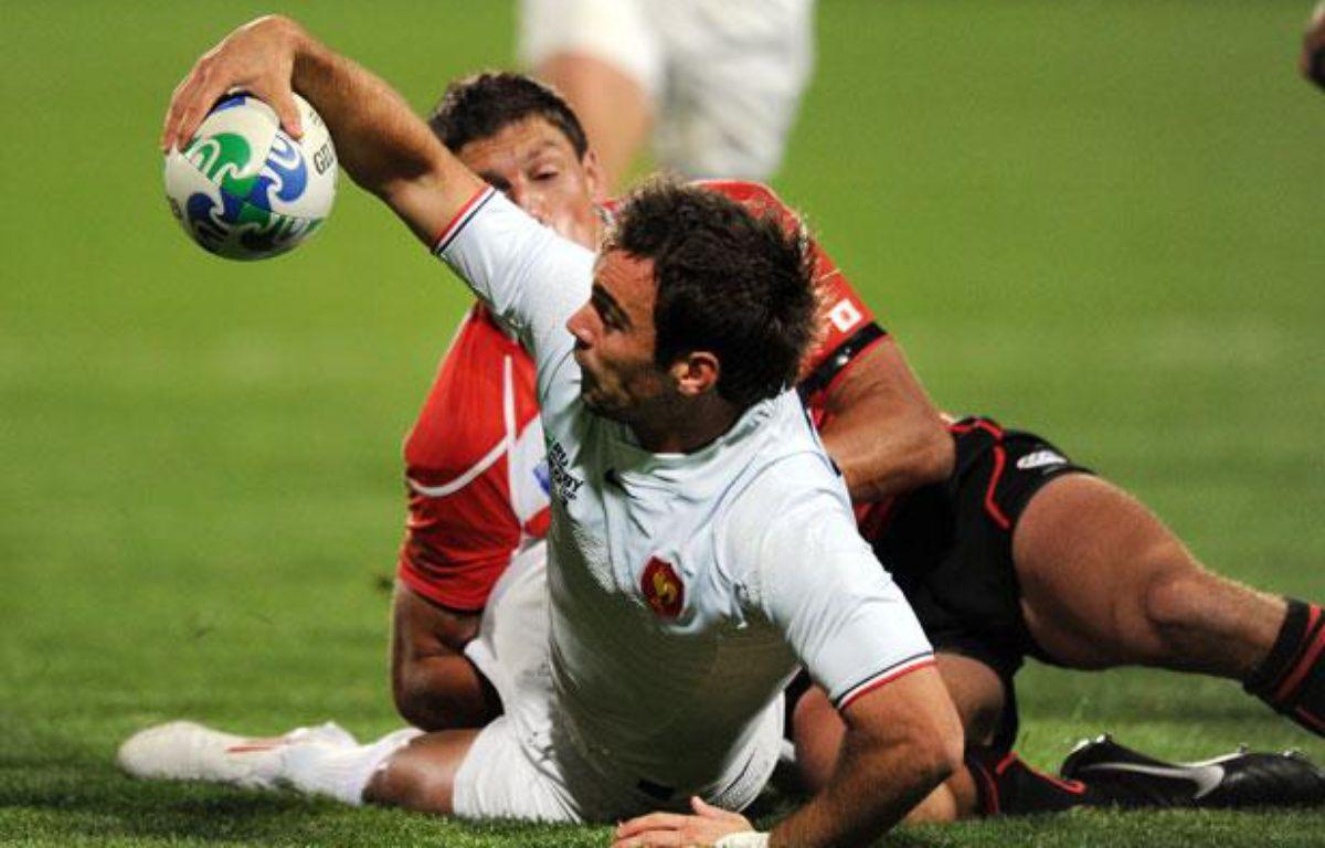 Morgan Parra contre le Japon, le 10 septembre 2011 à North Harbour. – G.Wood /AFP