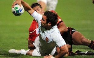 Morgan Parra contre le Japon, le 10 septembre 2011 à North Harbour.