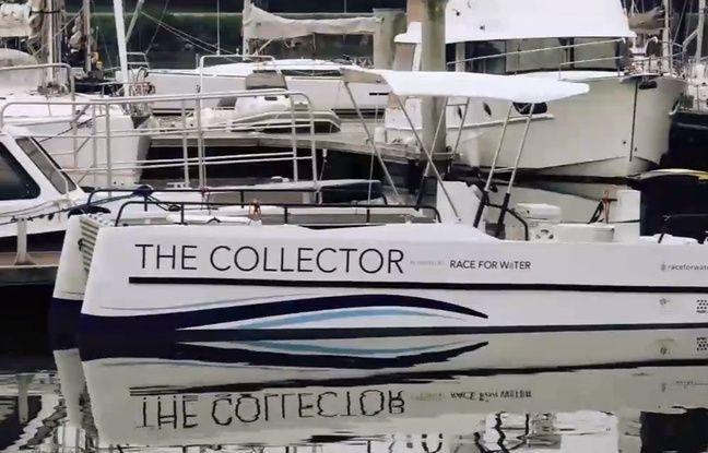 Ce petit bateau doit permettre la collecte et le tri des déchets plastiques en mer