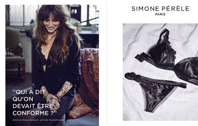 Une publicité Simone Pérèle mettant en avant une «Simone».