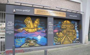 La boutique Comptoir national de l'or à Grenoble (Isère).