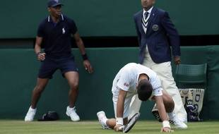 Novak Djokovic à Wimbledon, le 1er juillet 2016