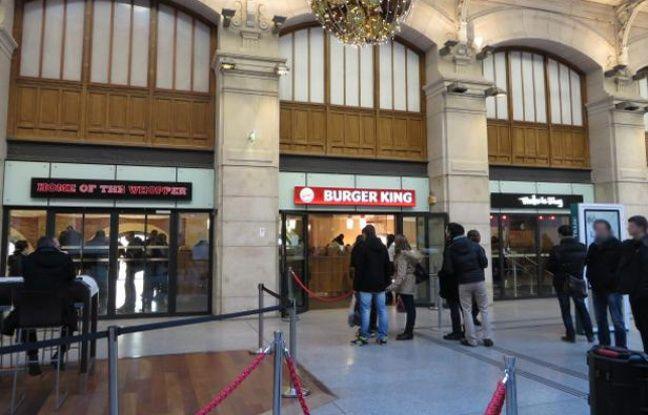 Paris le burger king de la gare saint lazare encore ferm plusieurs mois - Restaurant gare saint lazare ...