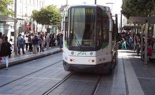 La ligne 3 de tramway à Nantes (illustration).