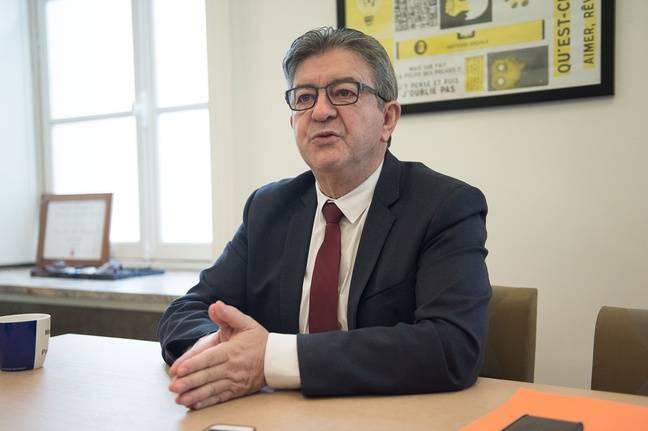 Jean-Luc Mélenchon, dans son bureau à l'Assemblée nationale, le 2 décembre 2019.