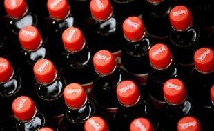 Des bouteilles de Coca-Cola. Illustration.