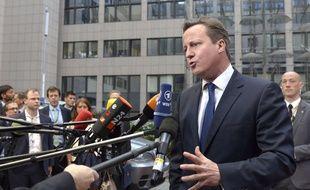 David Cameron à Bruxelles le 27 mai 2014.