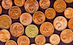Des pièces de 1, 2, 5 ou 10 centimes d'euro.