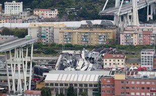 Le viaduc Morandi s'est effondré mardi 14 août 2018 en Italie.