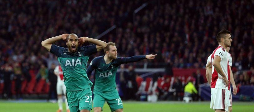 Lucas a inscrit un doublé contre l'Ajax.