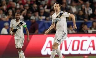 Zlatan Ibrahimovic avec le maillot des LA Galaxy