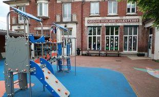 Une école à Chatou le 27 avril 2020.