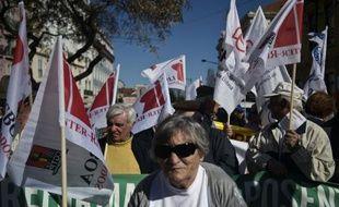 Manifestation de Portugais contre l'austérité, le 7 mars 2015 à Lisbonne