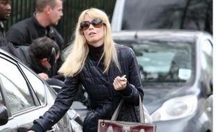 Claudia Schiffer à Londres.