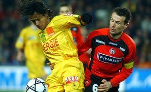 Dominique Arribagé (à d.) n'a souvent rien vu venir face au Nantes de Marama Vahirua...