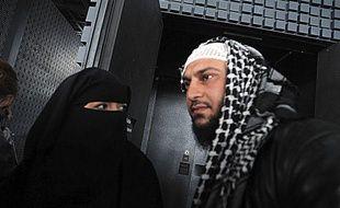 Lies Hebbadj au tribunal de police de Nantes, le 28 juin 2010.