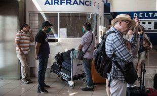 Un guichet Air France à La Havane (Cuba), le 27 mars 2020.