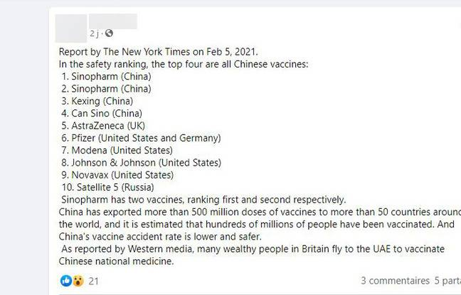 The New York Times did not publish this list.