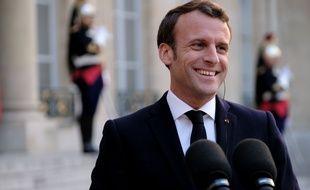 Discours d'Emmanuel Macron.
