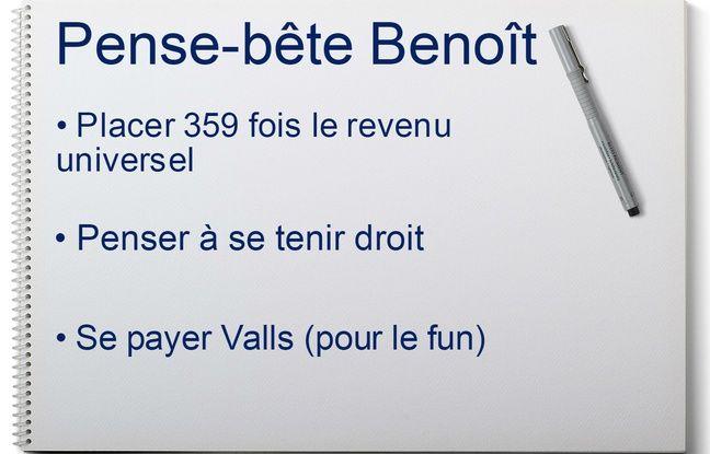 Fiche de Benoît Hamon envoyée par Manuel Valls
