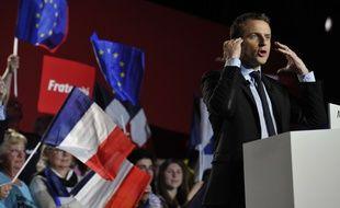 Emmanuel Macron, en meeting à Arras le 26 avril 2017.