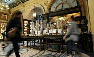 Une librairie de la Galerie Vivienne, le 3 mai 2014 à Paris