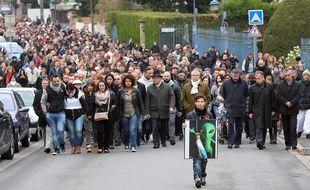 Marche en hommage à Luca, le 18 octobre 2015 à Jœuf (54)