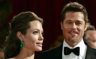 Brad Pitt et Angelina Jolie à la cérémonie des Oscars le 22 février 2009