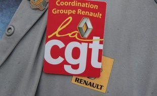 Lors d'une manifestation devant l'usine Renault de Flins, en 2020. Illustration