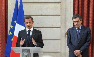 Nicolas Sarkozy et François Fillon, le 24 juin 2010 à l'Elysée.