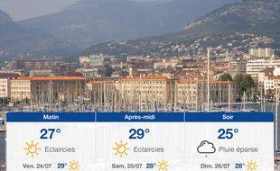Météo Toulon: Prévisions du jeudi 23 juillet 2020