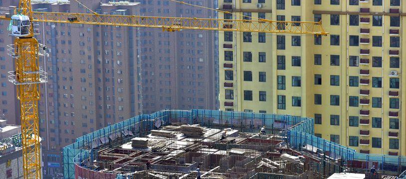 Illustration d'un chantier immobilier à à Qingzhou (est de la Chine) le 15 septembre 2021.