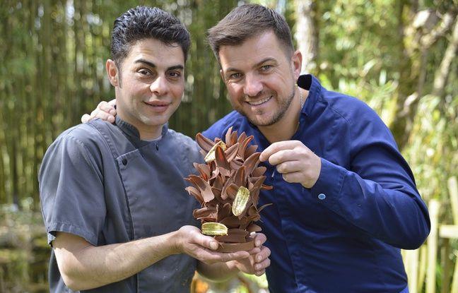 Rodolphe Groizard (à gauche) et Éric Guérin (à droite) avec leur œuf en or.