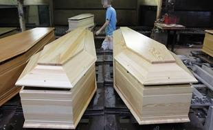 Illustration de cercueils.