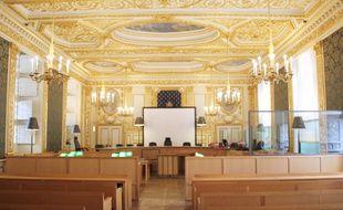 La salle d'audience principale de la cour d'assises d'Ille-et-Vilaine, à Rennes.