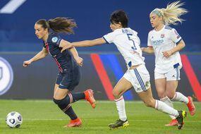 Le quart de finale aller de Ligue des champions entre le PSG et l'OL au Parc des Princes, le 25 mars 2021.