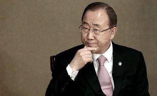 Le secrétaire général des Nations unies Ban Ki-moon, le 20 mai 2015.