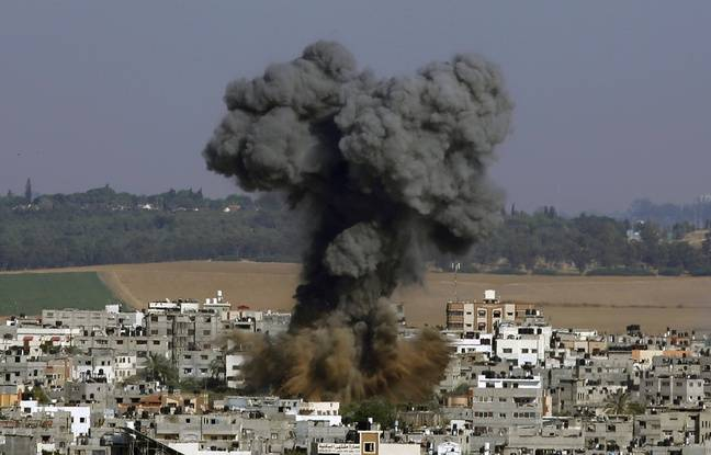 648x415 jeudi 13 mai 2021 jusque tard nuit armee israelienne multiplie frappes contre enclave palestinienne gaza