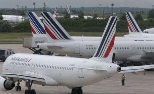 Des avions de Air France, à Roissy, en juin 2013.