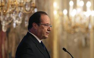 François Hollande s'est exprimé sur la Syrie le 27 août 2013.