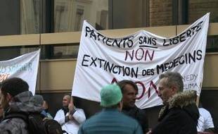 Illustration de la grève des médecins à Lyon le 5 janvier dernier.